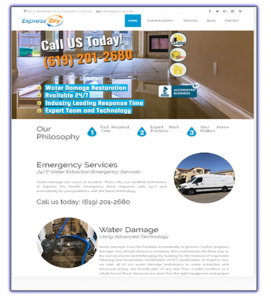 express-dry.com web design