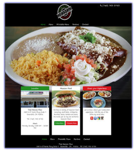 thatmexicanplace.net web design
