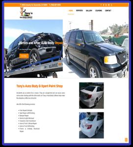 tonysautobodyxpert.com web design